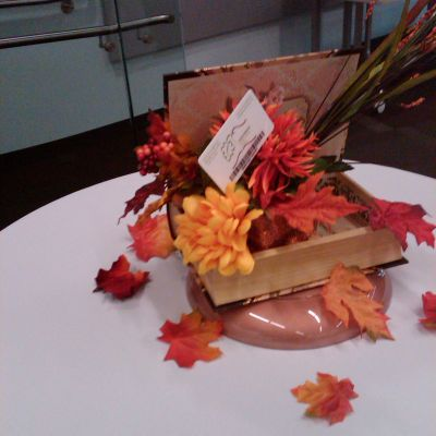 Fall Book Centerpiece